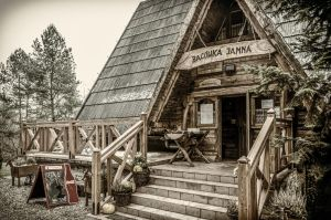 mountain hut by marrciano