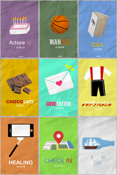 Seventeen minimalist posters by BHottest