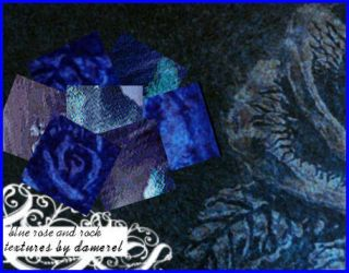 Textures - blue rose and rock by damerel