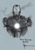Iron Man, Comic Con Sketch by Guy-Bigbelly