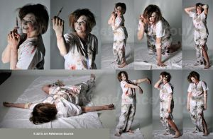 Zombie Nurse Stock by ArtReferenceSource