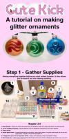 Glitter Ornament Tutorial by cutekick
