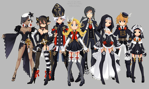 Dragon nest priest costume all classes by ZiyoLing