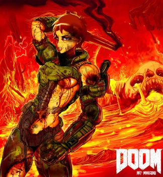 Doom gal 2017 by MaKuZoKu