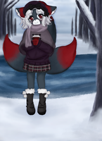 . : Commission - Cozy winter hot chocolate : . by Aviditty