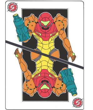 Metroid Playing Card T-shirt Design by KT-crystal