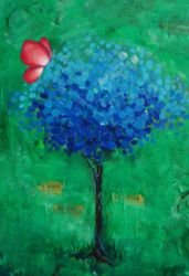 Blue Tree by christinabmiller