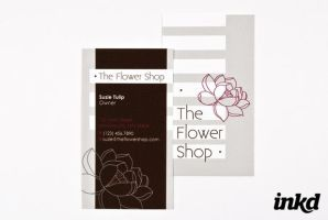 The Flower Shop Business Card by inkddesign