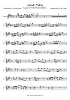 Gerudo Valley Flute Sheet Music by drakon-thedragon