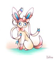 Inktober #9 - Sylveon by BluHiroo