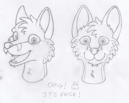 Frsk - Head Sketches by PeregrinFrisk