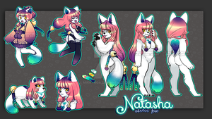Natasha the artic fox (SOLD TY) by Mikkynga