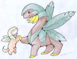 ...and baby tropius