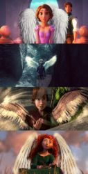 Rise of the Brave Tangled Dragons Angel AU by OneBelle