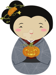 Kokeshi Halloween by thedustyphoenix