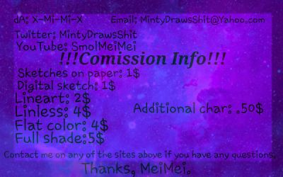 Commission prices {OPEN} by X-Mi-Mi-X