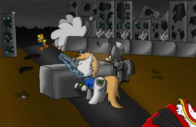 Fallout Equestria, Battle at Buccaneer Pass by CanvasStories