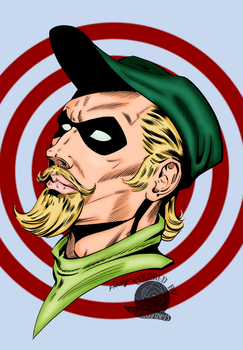 Green Arrow Bronze Age Tribute by Blackmoonrose13