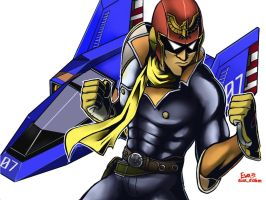 Blue Falcon,Captain Falcon.(Smash Bros.) by eua-eakm