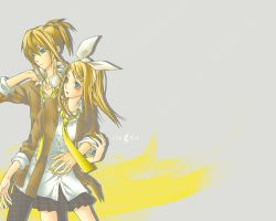 Vocaloid Wallpaper Rin and Len by ideekayys