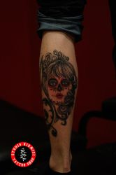Sugarskull tattoo dovme portrait art by mertkanongun