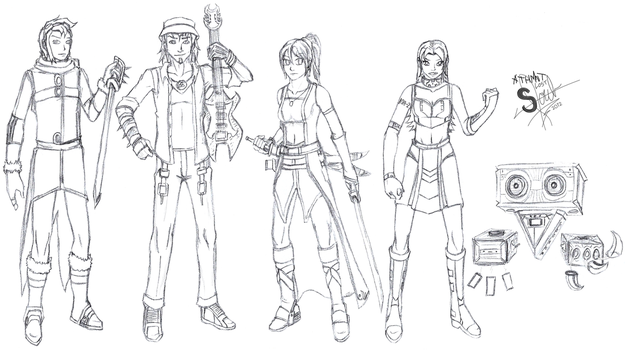 3rd Party OCs Sketches 5 by athorment