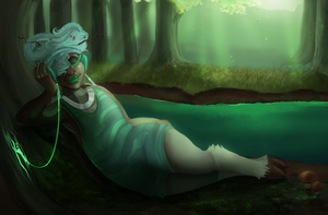 listening to the trees by marineflames
