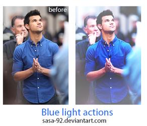 Light blue photoshop Actions by sasa-92