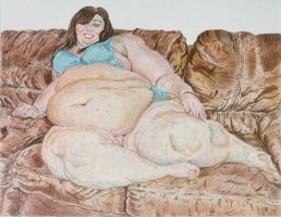 SSBBW Jaye sitting on the sofa attempt 2 color 12 by ENT2PRI9SE