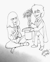 Daphne and FlimFlam (ink) by pythonorbit