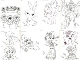 300 Drawing Prompts - MLP sketch dump by mayorlight