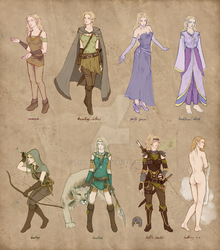 ranger girl outfits by Ithilloth