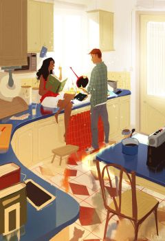 Meanwhile, in the kitchen... by PascalCampion