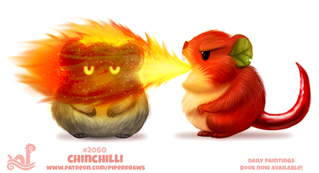Daily Paint 2060# Chinchilli by Cryptid-Creations