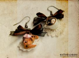 Croissant jewelry Earrings by maria-chan