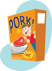 pork cereal by graphixgeek