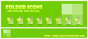 clear folder icons by nori-asam
