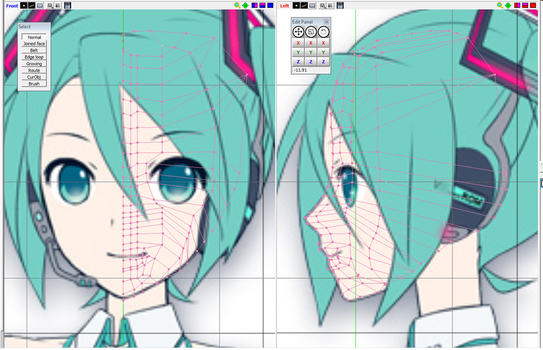 New Model 100% by me of Hatsune Miku WIP by johnjan11