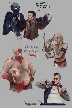 Outlast doodles by morgenty