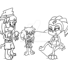 Collab - Family Time On The Beach by CatDasher
