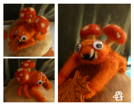 Paras_needlefelted by griffsnuff