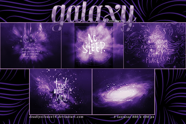 Galaxy Textures by deadlysilence16
