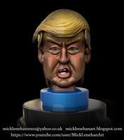 Donald Trump Caricature BobbleHead by Mick2006