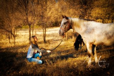 A girl and her horse II - Abie Marie Series by shutterbug226
