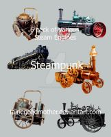 Tube Pack Steam Engines by FairieGoodMother