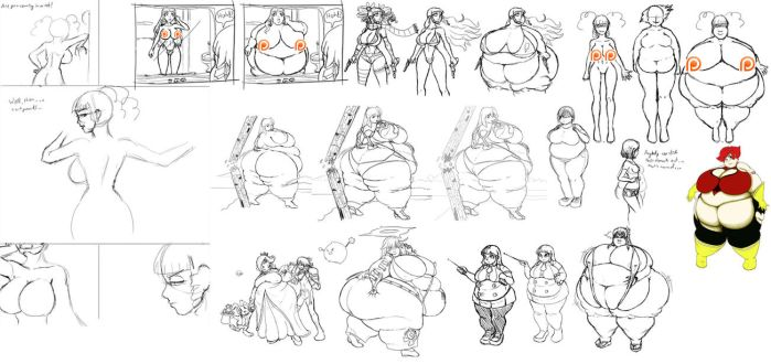 Patreon Sketch Dump Teaser by GAIN-OVER