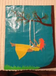 Swinging Girl Canvas by Brutechieftan