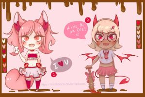 San Valentine Adoptables .: CLOSED :. by carlitaloca