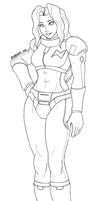 F-Zero - Jody Summer 2016 Lineart by athorment