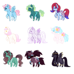 [5/9 OPEN - 100 pts] Pony Adoptable Batch 5 by Res0nare